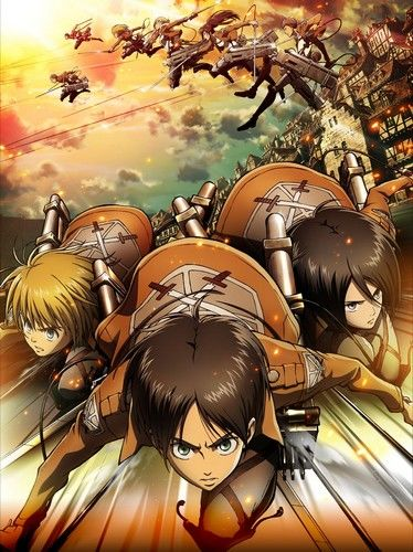 the anime is adapted from manga series of same name written and illustrated by hajime isayama set in an alternate universe attack on titan took.html
