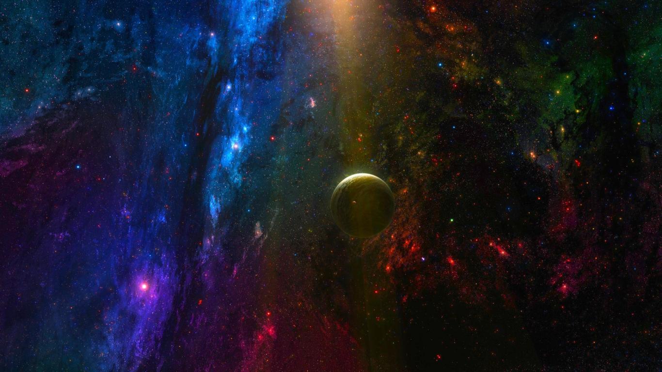 W832 Outer Space Galaxy Stars Nebula Landscape Gift Poster Silk Wall Art